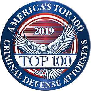 America's Top 100 Criminal Defense Attorneys 2019® Recipient Award